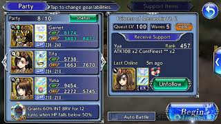 [DFFOO GL] Lady of Final Fantasy VII, IX, X in Action ! ❤