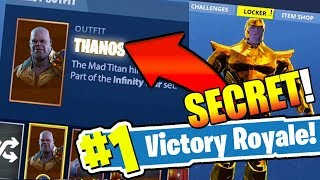 *NEW* How to unlock THANOS permanently in FORTNITE: BATTLE ROYALE