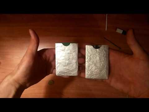 Защитный чехол для банковской карты от считывания своими руками