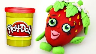 SHOPKINS Stop Motion PLAY DOH video - - - Strawberry Kiss Claymation(Making