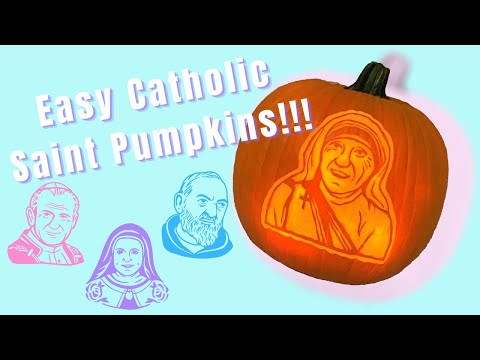 Easy Catholic Saint Pumpkins | How to Shave a Pumpkin | Pumpkin Carving Tutorial | All Saints Day