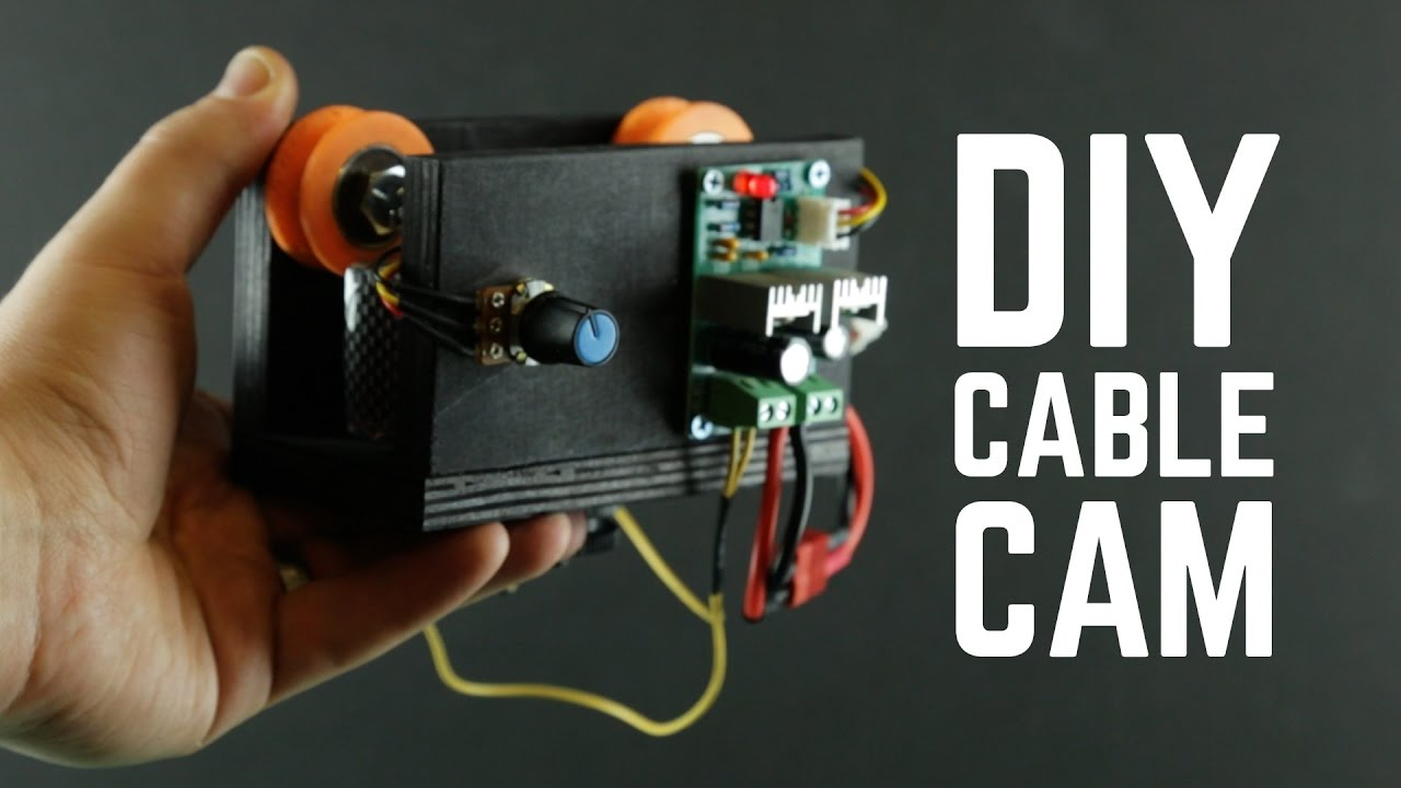 diy cable cam with bluetooth controlled gimbal [ 1280 x 720 Pixel ]