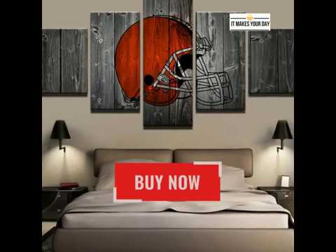5 Piece Cleveland Browns American Football Canvas Wall Art Paintings ...