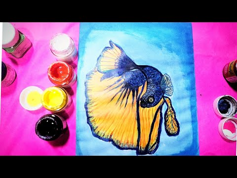 Easy acrylic painting, step by step, for beginners