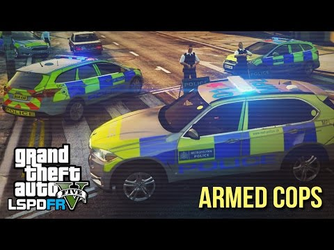 GTA 5 LSPDFR - Awesome Armed Police patrol ft. SC&O19 - The British way #59