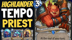 MY FAVORITE PRIEST DECK IN AGES!! Tempo Priest Shows What It's Got! | Ashes of Outland | Hearthstone