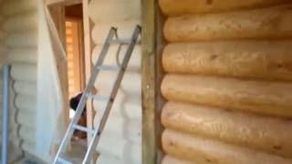видео Межкомнатная перегородка в деревянном доме своими руками