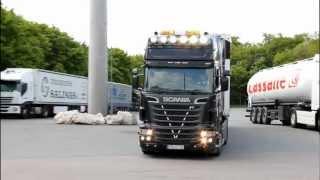 Scania R730 V8 Sömmering Transporte Teil 1