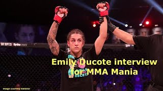 Emily Ducote Interview Before Kristina Williams at Bellator 195