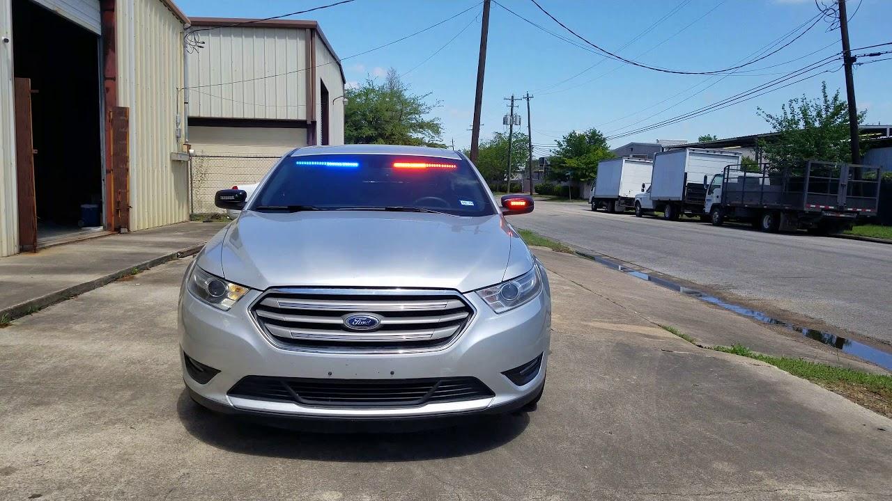 2017 Taurus Feniex Police Lights by EFS Houston Emergency Fleet Service - YouTube