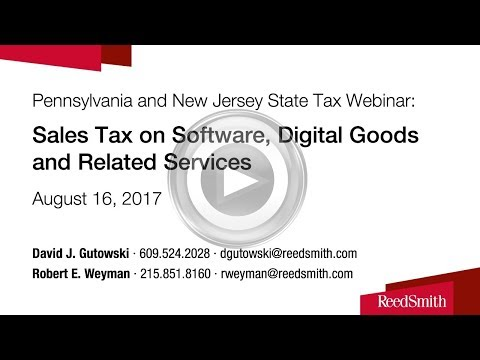 Sales Tax on Software, Digital Goods and Related Services in Pennsylvania and New Jersey