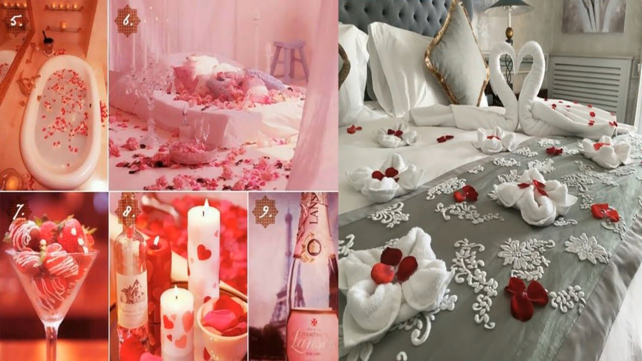 Romantic Wedding Marriage Room Decoration Ideas || Bridal First ...