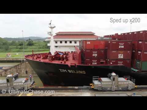 Panama Canal - Miraflores Locks in Panama Video