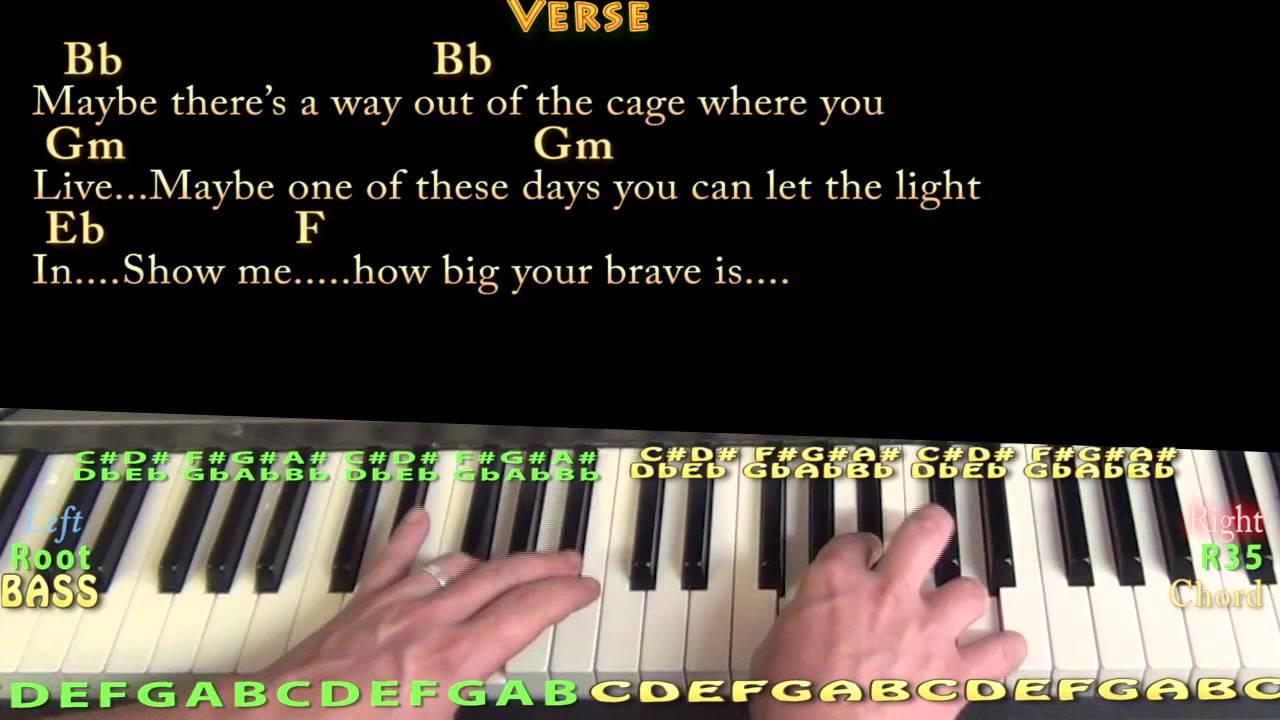 Brave sara bareilles piano cover lessonin bb with chordslyrics brave sara bareilles piano cover lessonin bb with chordslyrics hexwebz Gallery