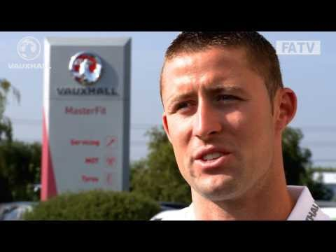 Chelsea defender Gary Cahill looks ahead to England vs Scotland at Wembley