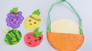 How to make cute Fruit Coasters from paper | Easy Crafts
