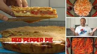 Red Pepper Pie   Olive Oil Dough   #DoStathi