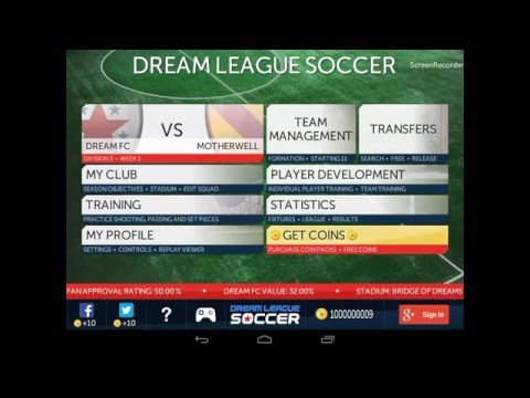Dream League Soccer HACK unlimited gold for Android - Lucky