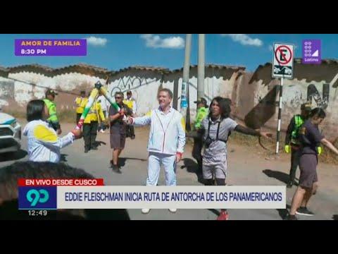 Eddie Fleischman inicia ruta de antorcha de los Panamericanos Lima 2019