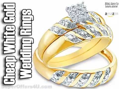 Cheap White Gold Wedding Bands His And Hers