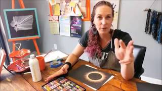 Try this Chalk Pastel Technique to Make Eclipse Art!