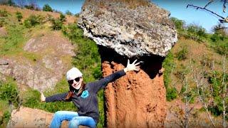 Прогулка Светы и каменные грибы. Света в Крыму