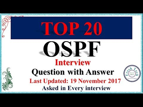 TOP 20 OSPF || NETWORK ENGINEER INTERVIEW QUESTIONS WITH ANSWER || Asked in every interview