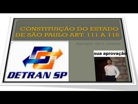 CONSTITUIÇÃO DO ESTADO DE SÃO PAULO ART 111 A 116 - DETRAN  2