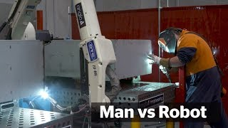 How much quicker can robots do our jobs?   Man vs Robot