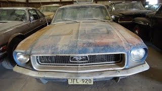 barn find series 1968 ford mustang