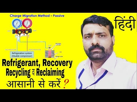 Refrigerant Recovery Recycling And Reclaiming Easily Done In Hindi