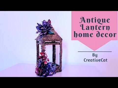 Antique Lantern Home Decor with waste Cardboard