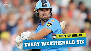 Every six: Weatherald hits PB in big campaign | KFC BBL|10