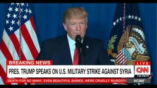 BREAKING: Pres Trump Launches Missles At Syria - SPEACH FOX LIVE CNN
