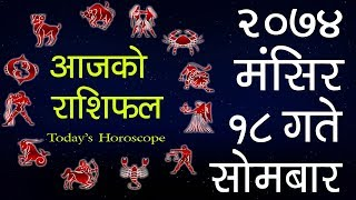 Aajako Rashifal 2074 Mangsir 18, Today's Horoscope, December 4,Monday