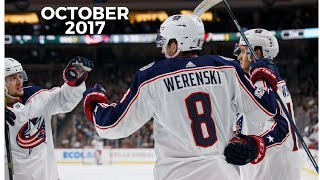All Overtime Goals in the NHL 2017-18 season during October 2017