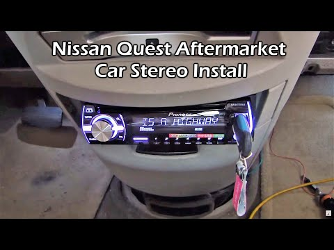 aftermarket radio wiring diagram 2005 mazda 6 belt nissan quest new stereo install pioneer deh x3500ui youtube