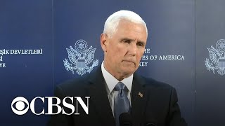 Vice President Pence brokers ceasefire with Turkish President Erdogan on Syria