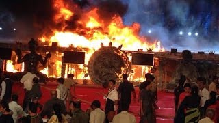 Fire at Make in India event, Mumbai | Full Video