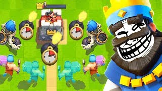 TROLL DECK Only *CHALLENGE* in Clash Royale Video