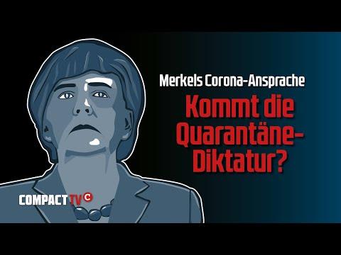 Merkels Corona-Ansprache: Kommt die Quarantäne-Diktatur: Aufzeichnung des COMPACT-TV Livestreams