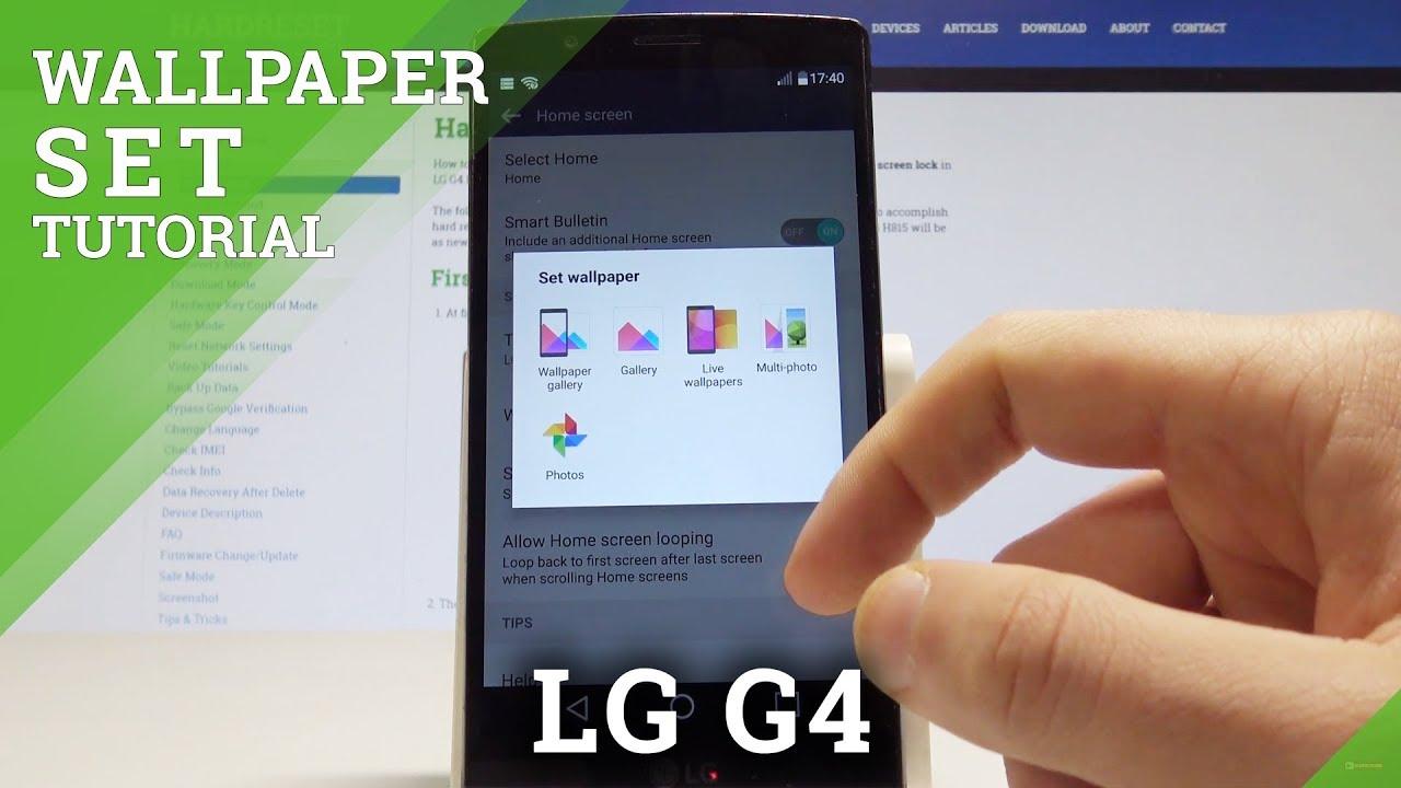 LG G4 - Change Home Screen Wallpaper
