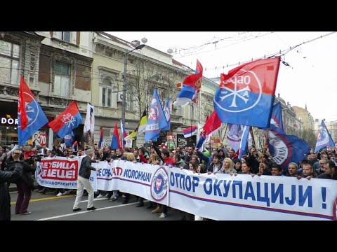 Anti-NATO Protest in Belgrade, Serbia