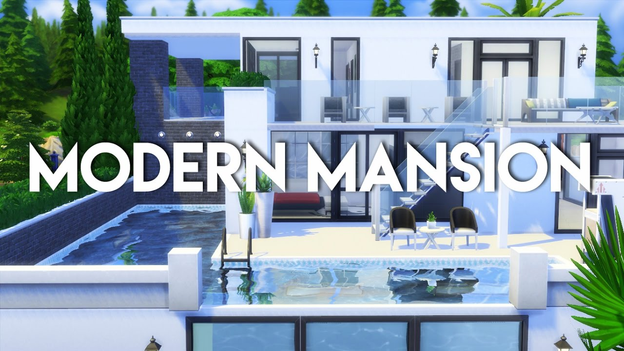 The Sims 20  House build  Modern Mansion (NO CC)