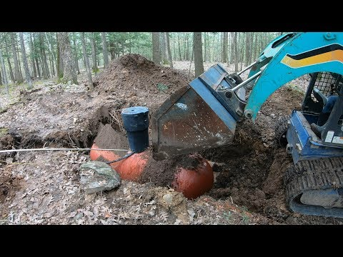 Burying another propane tank