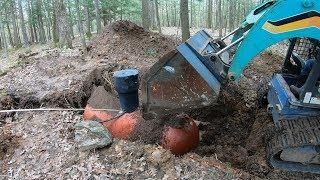 Burying another propane tank