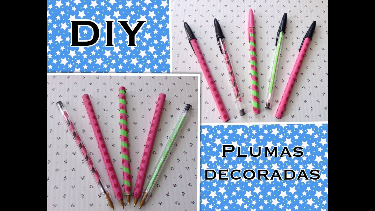 Plumas Para Decorar Lapiceros O Plumas Decoradas Con Washi Tape Youtube
