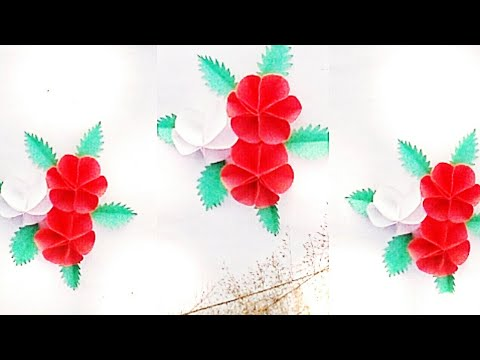 How To Make Small Paper Flower - Paper Craft - Paper Flower - DIY Flowers By Crafting Happiness