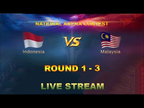 Mobile Legends - National Arena Contest Round 1 - 3 | Indonesia vs Malaysia Full Gameplay