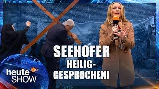 Monika Gruber beobachtet die Horst-Seehofer-Passionsspiele